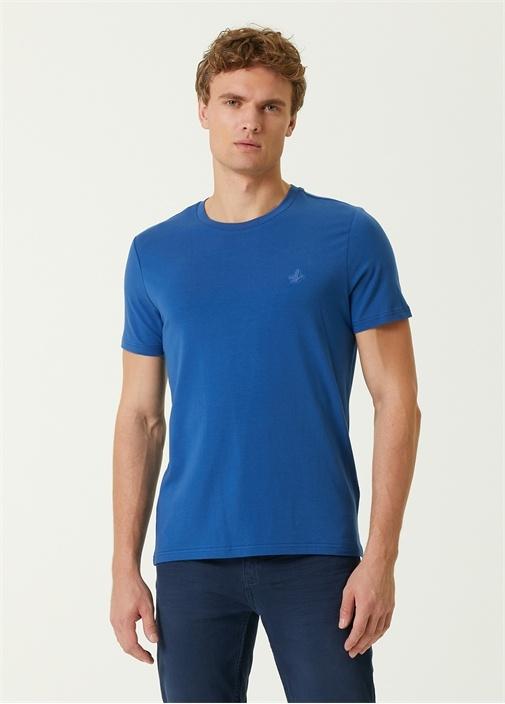 Lacivert Logo Detaylı T-shirt