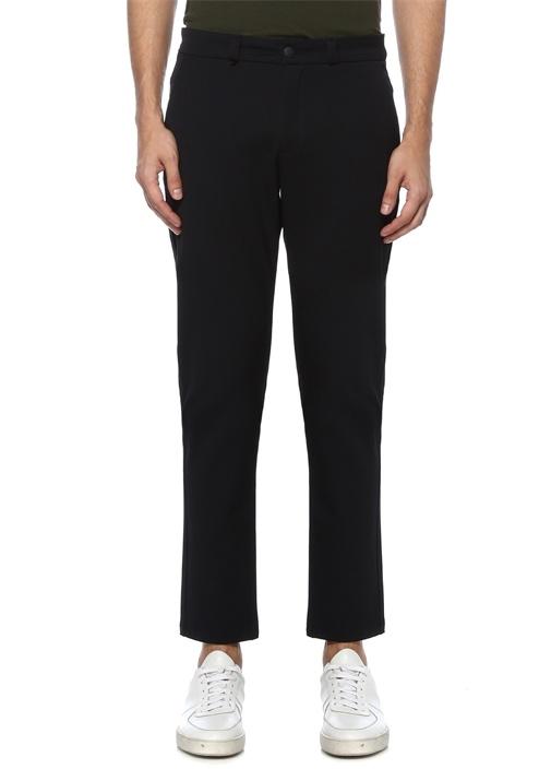 Slim Fit Lacivert Grogren Detaylı Chino Pantolon