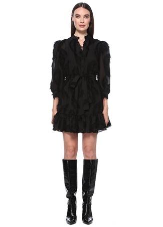 Network Kadın Regular Fit Siyah Püskül Detaylı Mini Elbise 36 EU