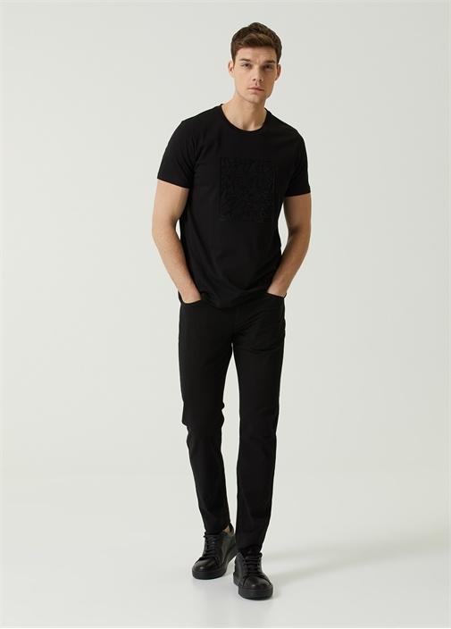 Slim Fit Siyah Spor Pantolon