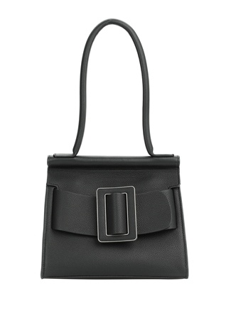 Boyy Bag Kadın Karl 24 Siyah Kemer Detaylı Deri Omuz Çantas EU