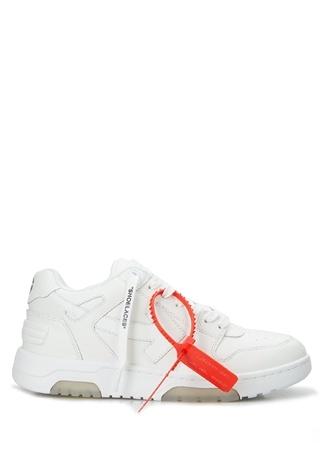 Off-White Kadın Beyaz Logolu Deri Sneaker 36 EU