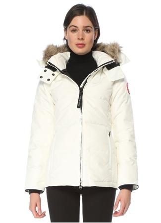 Canada Goose Kadın Chelsea Beyaz Kapüşonlu Mont XS EU
