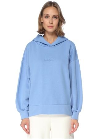 Beymen Club Kadın Oversize Mavi Kapüşonlu Sweatshirt S