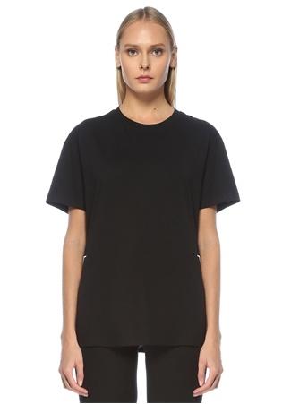 Valentino Kadın VLTN Siyah Beyaz Baskılı T-shirt XS EU