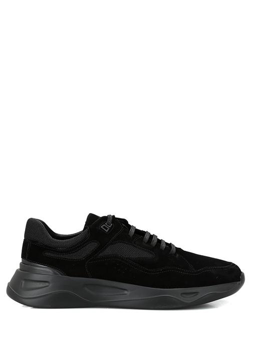 Siyah Oversize Tabanlı Erkek Süet Sneaker