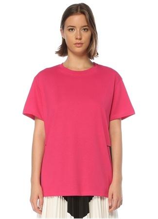 Valentino Kadın VLTN Şeftali Siyah Baskılı T-shirt Pembe S EU