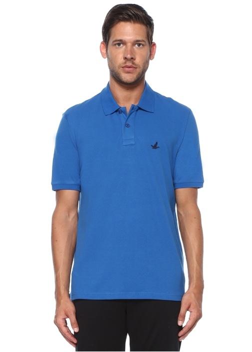 Comfort Fit Saks Polo Yaka T-shirt