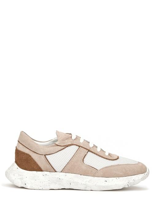 Beyaz Garnili Erkek Deri Sneaker