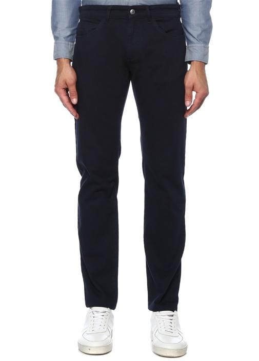 Slim Fit Lacivert Biye Detaylı Spor Pantolon