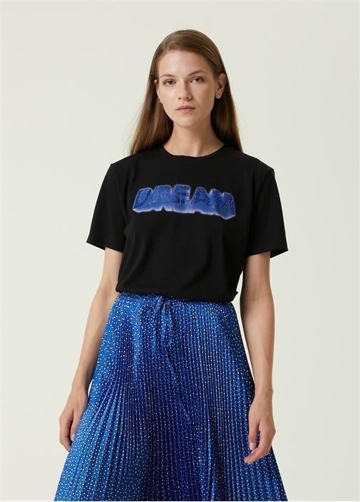 Dream Siyah Taş Baskılı T-shirt