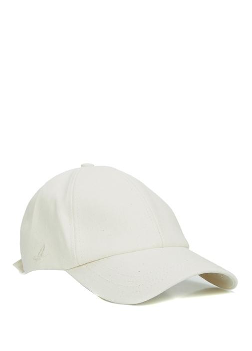 Ekru Logo Nakışlı Erkek Şapka