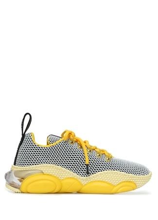 Moschino Kadın Sarı File Dokulu Sneaker 36 EU