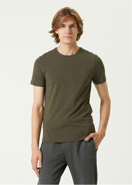 Haki Bisiklet Yaka Basic T-shirt