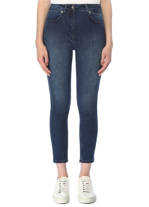 Normal Bel Crop Skinny Jean Pantolon