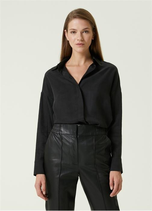 Oversize Siyah Gömlek