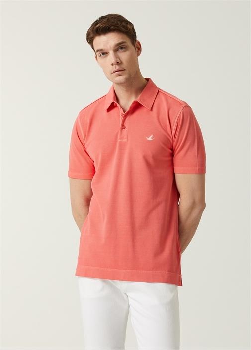 Comfort Fit Pembe Polo Yaka T-shirt