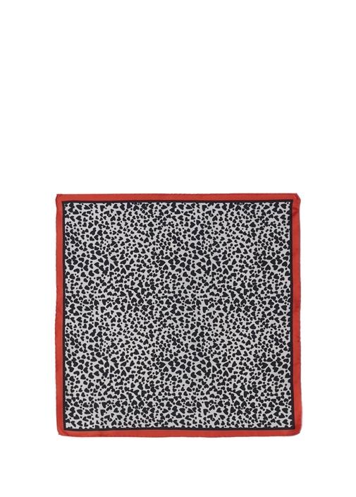 Kalp Desenli 50x50 cm Kadın İpek Eşarp
