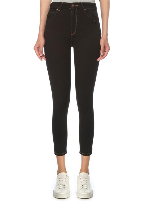 Slim Fit Siyah Yüksek Bel Jean Pantolon
