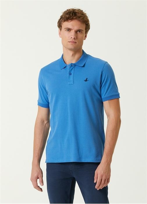 Comfort Fit Mavi Polo Yaka T-shirt