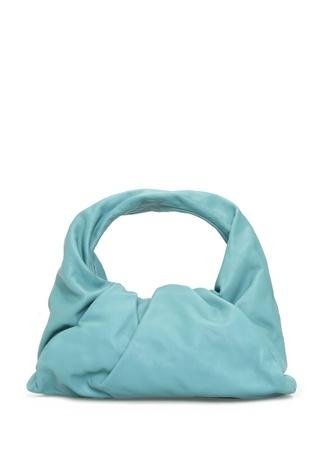 Bottega Veneta Kadın Mavi Deri Omuz Çantası Yeşil EU