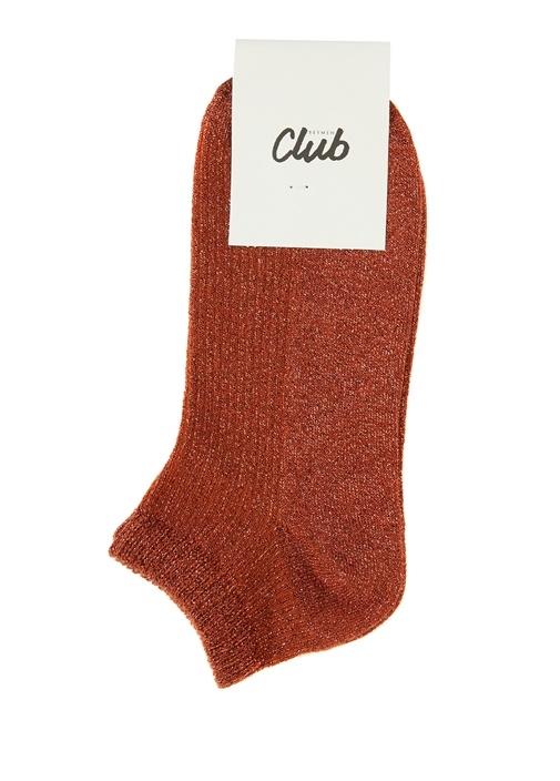 Kiremit Sim Dokulu Kadın Çorap