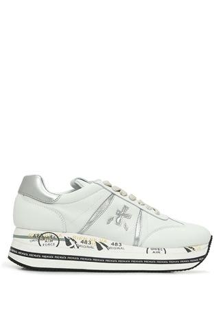 Premiata Kadın Beth Beyaz Baskı Detaylı Sneaker 35 EU