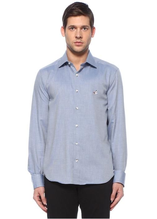 Mavi Klasik Yaka Gömlek