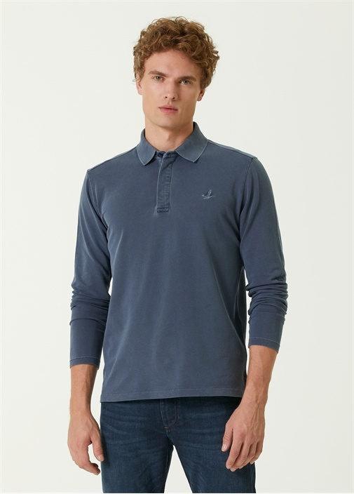 Comfort Fit Polo Yaka Uzun Kollu T-shirt