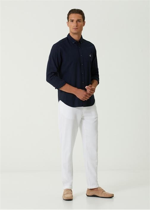 Comfort Fit Lacivert Gömlek