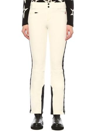 Perfect Moment Kadın Ekru Paça Detaylı Yıldız Şeritli Pantolon Siyah XS EU