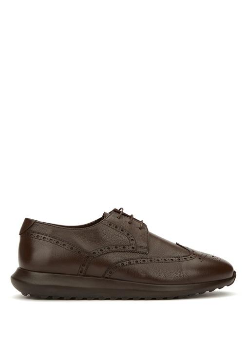 Kahverengi Sportif Tabanlı Erkek Deri Ayakkabı