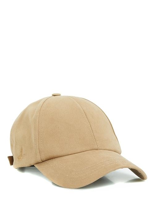Bej Logo Nakışlı Erkek Şapka