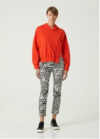 Beymen Club Kadın Mercan Kapüşonlu Fermuar Detaylı Sweatshirt Kırmızı S