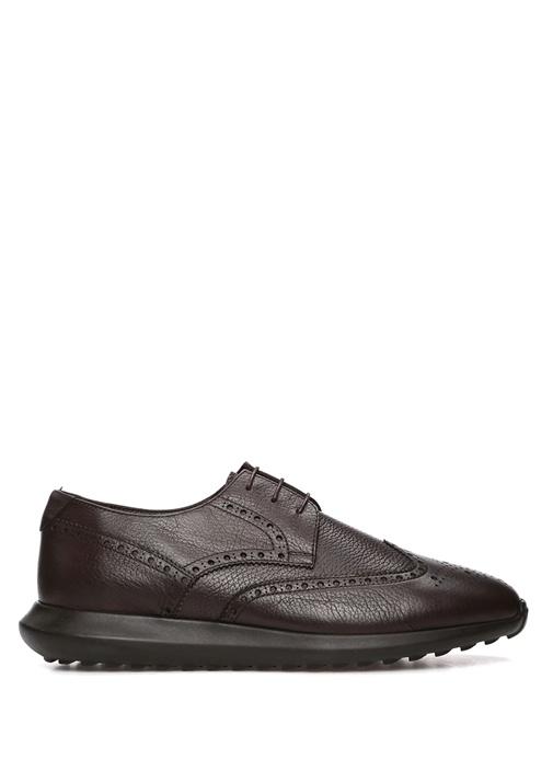 Kahverengi Sportif Taban Erkek Deri Ayakkabı
