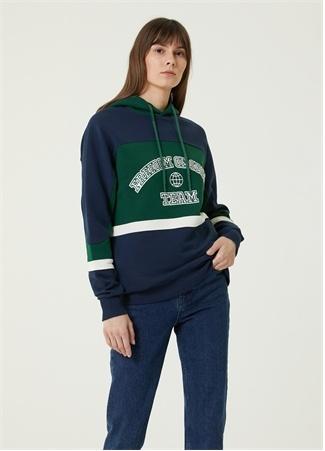 Freedom of Space Kadın Team Yeşil Kapüşonlu Sweatshirt S EU