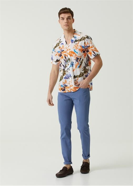 Slim Fit Mavi Normal Bel Spor Pantolon