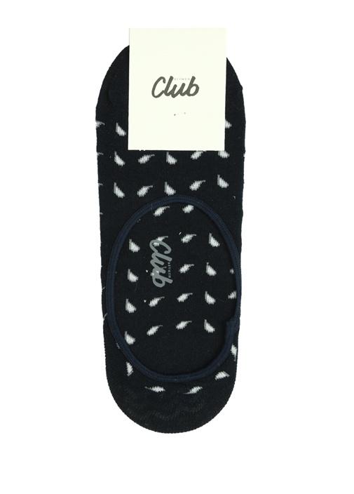 Lacivert Mikro Şal Desenli Erkek Çorap
