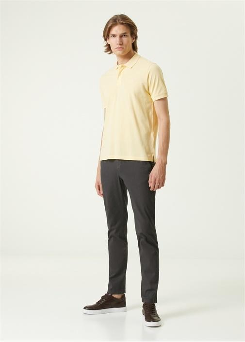 Slim Fit Gri Dokulu Spor Pantolon