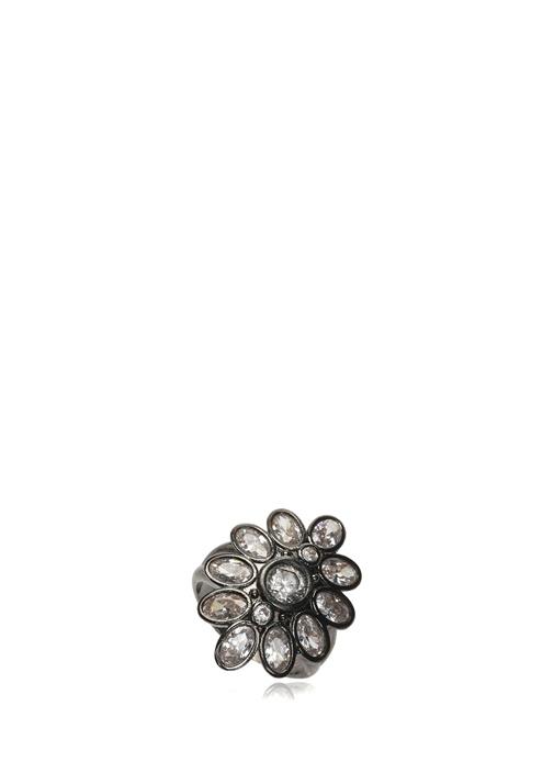 Çiçek Formlu Taşlı Kadın Yüzük
