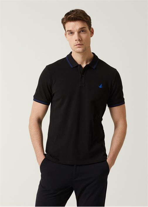 Comfort Fit Siyah Polo Yaka T-shirt