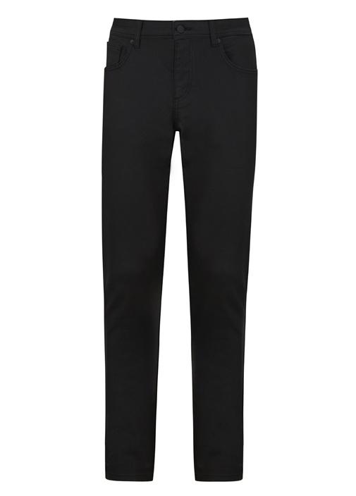 Slim Fit Siyah Kaplamalı Jean Pantolon
