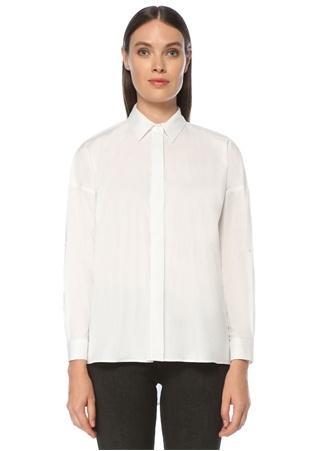 Network Kadın Basic Fit Beyaz Gömlek S EU