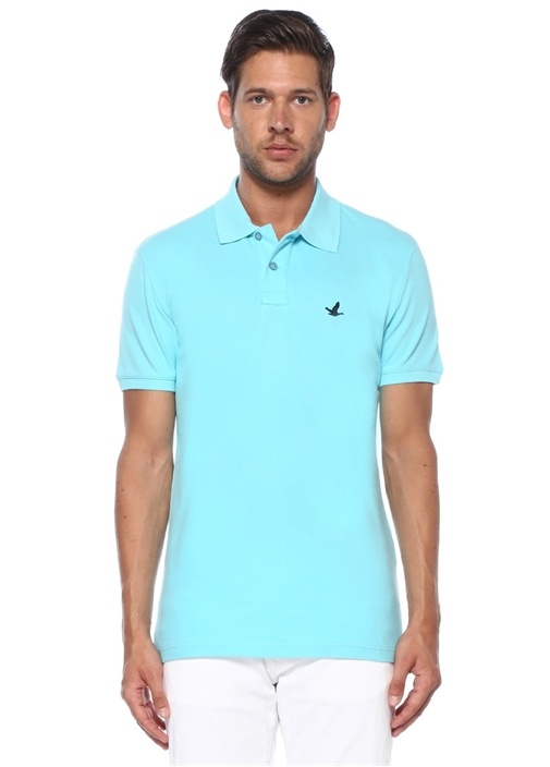 Slim Fit Turkuaz Polo Yaka T-shirt