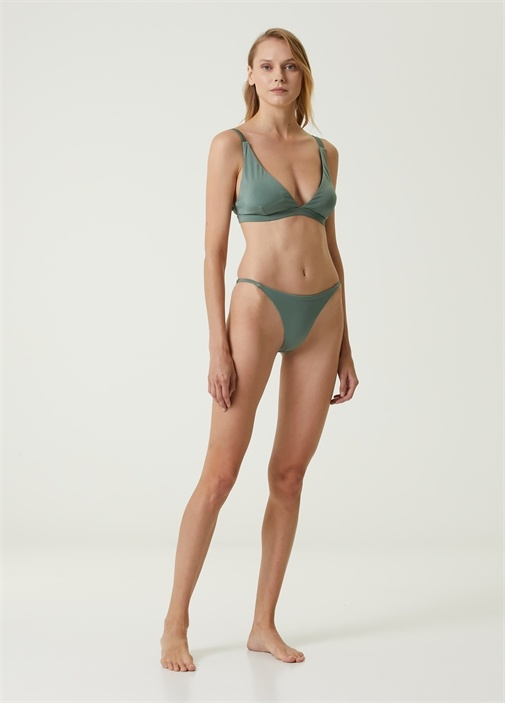 Haki İnce Bantlı Bikini Altı