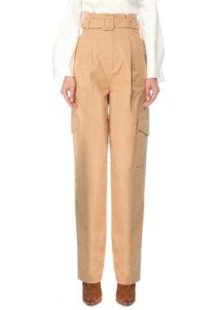 Muse For All Kadın Kamel Yüksek Bel Cep Detaylı Pantolon Bej 36 EU