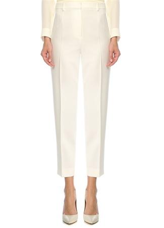 Beymen Collection Kadın Beyaz Boru Paça Yün Pantolon Bej 42