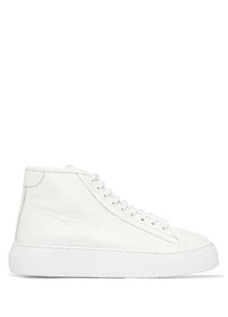 Academia Kadın Beyaz Dokulu Deri Sneaker 36
