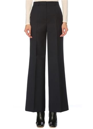 Beymen Collection Kadın Lacivert Yüksek Bel Geniş Paça Pantolon 42