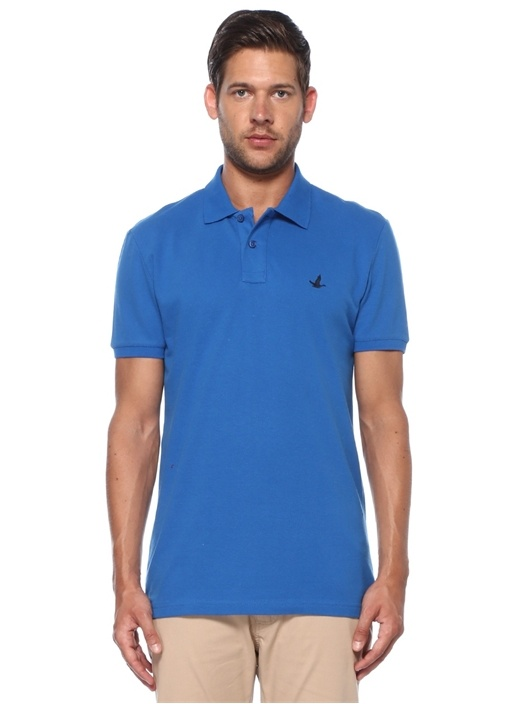 Slim Fit Saks Polo Yaka T-shirt